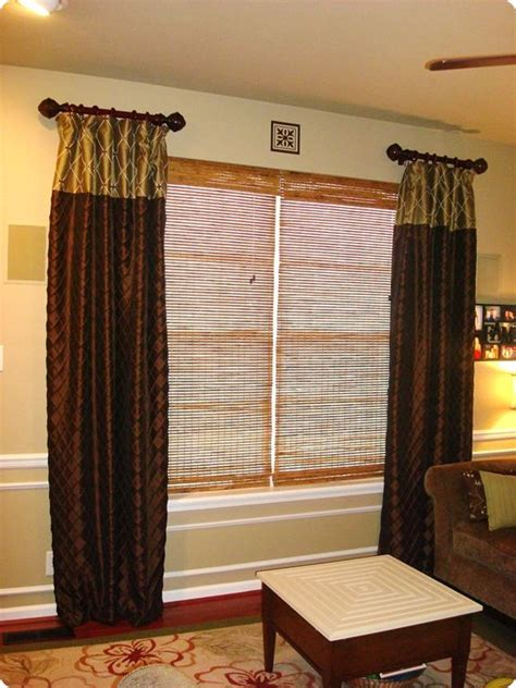Living Room Curtain Rods by Living Room Curtains 2 Rods Decorating Ideas