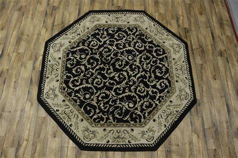8x8 wool rug tufted of black floral octagon shape 8x8 oushak rug wool carpet ebay