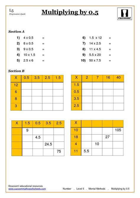 Ks2 Grid Method Multiplication Worksheet