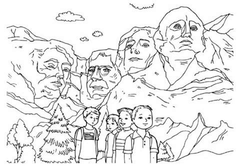 coloring page for mount rushmore presidents day coloring pages best coloring pages for kids