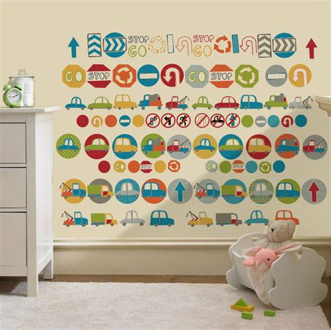 childrens road signs cars wall stickers decals nursery