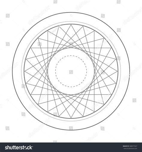 geometric pattern rotation rotation triangle sacred geometry symbol design stock