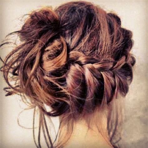 hairbuns on pinterest french braid buns updo and updos braid bun updo i don t think i could do that to my hair