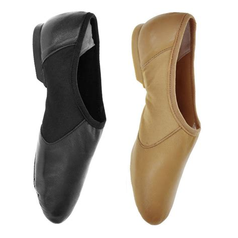 jazz shoes starlite hyper easy slip on leather jazz shoes black