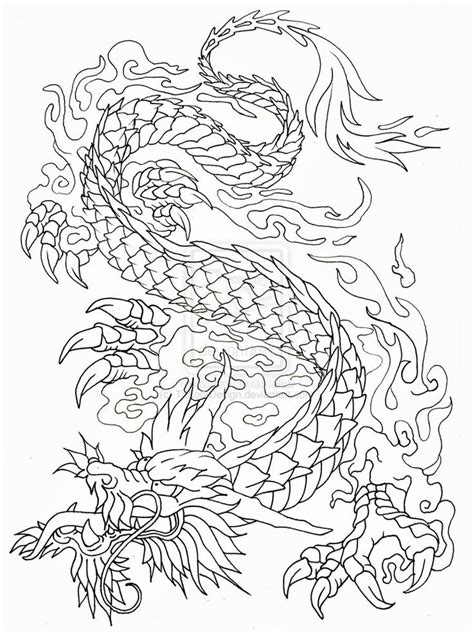 free tattoo outline designs 1000 images about dragons on stencils