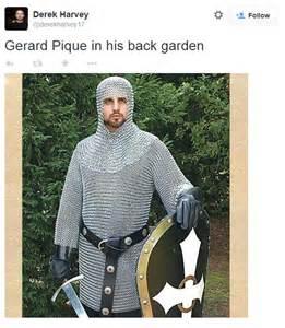 gerard pique sparks twitter jokes after barcelona star