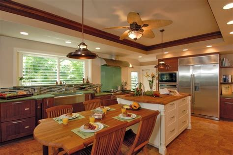 Tropical Kitchen Design by Hale Aina By The Sea Tropical Kitchen Hawaii By