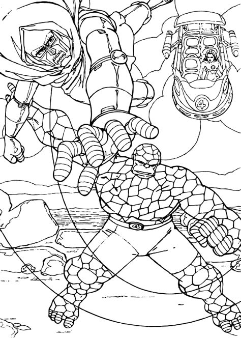 doctor doom coloring page the thing brawls doctor doom coloring pages hellokids com