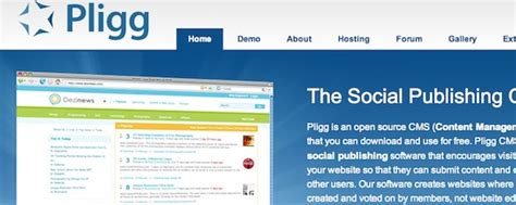 pligg cms notizie pligg cms 15 cms gratis para crear tu propio blog web wiki
