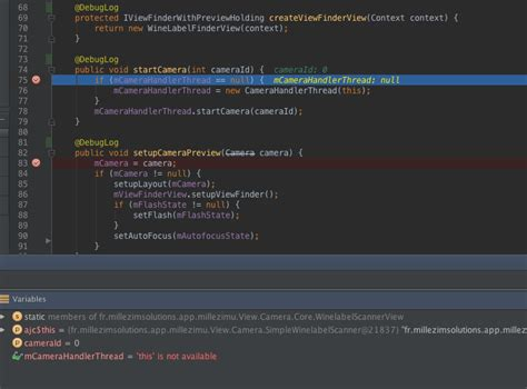 android studio debug layout debugging quot this is not available quot in debug windows of