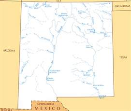 map of lakes and rivers large rivers and lakes map of new mexico state vidiani