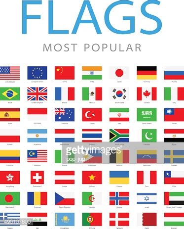 flags of the world most popular colour world most popular flags illustration vector art getty