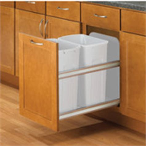 Kitchen Garbage Cans Built In Pull Out Built In Trash Cans Cabinet Slide Out