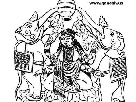 free coloring pages of goddess lakshmi