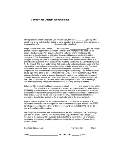 design and build contract payment terms custom woodworking oak tree design llc