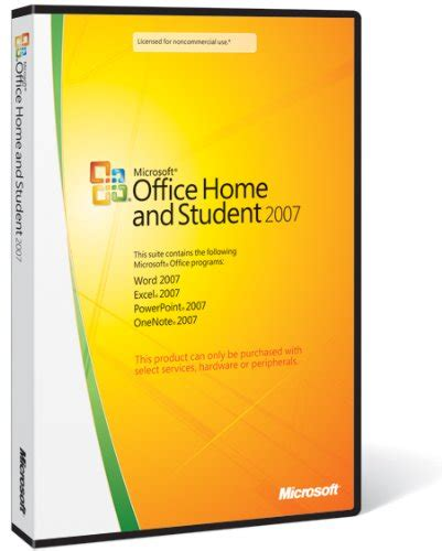 microsoft office and student 2007 program