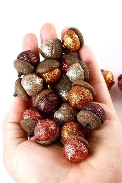 glitter acorns vase filler for home decor in autumn