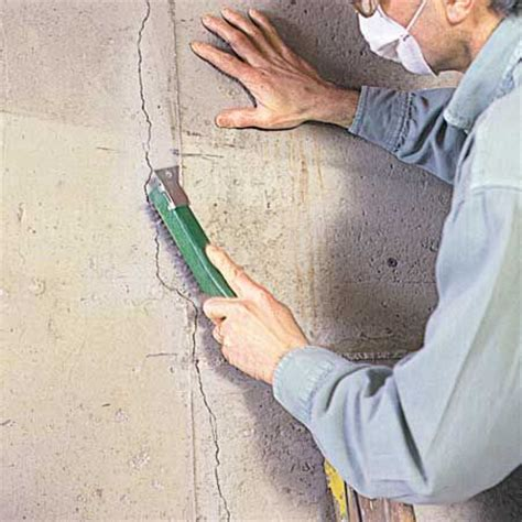 repair basement cracks fixing cracks in concrete hanging drywall basement