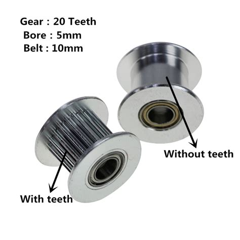 3d printer accessories gt2 pulley 20 without teeth idle pulley 20teeth timing gear bore 5mm for