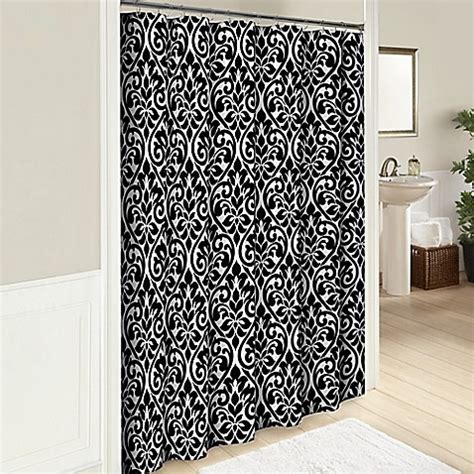 Hadley 72 Inch Cotton Shower Curtain In Black Bed Bath