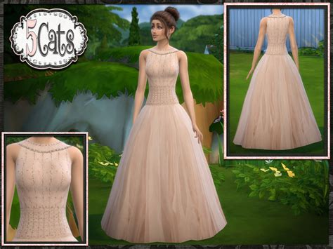ball gown sims 4 tulle illusion ball gown the sims 4 download simsdom