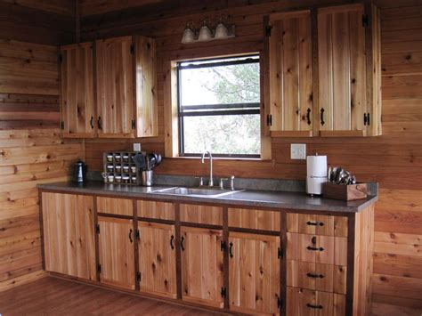 Unstained Kitchen Cabinets | unstained pine log wood kitchen cabinet with metal eased