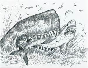 leviathan eats megalodon by hodarinundu on deviantart