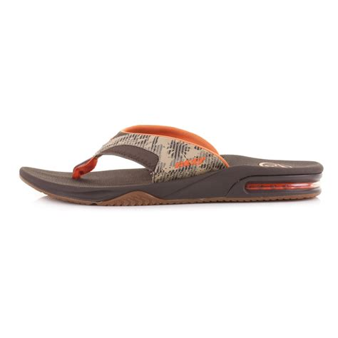 most comfortable flip flops mens mens reef fanning prints brown camo comfort bottle opener