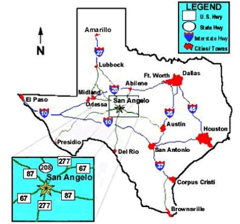 texas map san angelo san angelo getting here