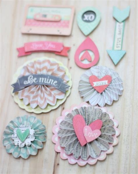 Handmade Embellishments For Scrapbooking - best 25 scrapbook embellishments ideas on