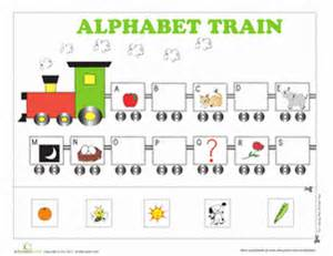 alphabet train worksheet education com