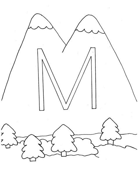 m mountain colouring pages