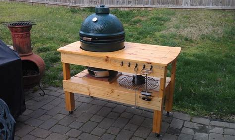 big green egg table plans large green egg table diywoodtableplans