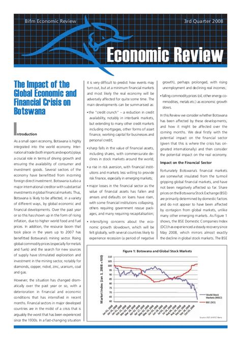 econsult world bank 2008 q3 the impact of the global financial and economic