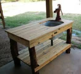 Homemade Outdoor Faucet Cover Rustic Prep Area For Outdoor Grill