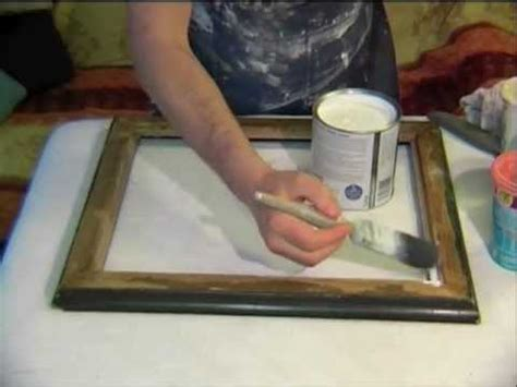 Hq 9675 I Dont Give A Chic how to create your own gorgeous shabby chic finish for a mirror or frame demonstration