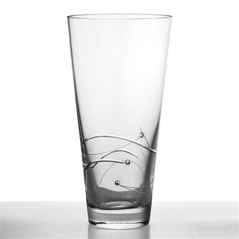 Personalised Vase Personalised Crystal Vase With Swarovski Elements