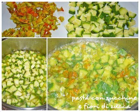 sugo con fiori di zucchine pasta con zucchine e fiori di zucca farina lievito e