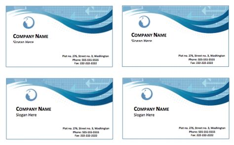 Business Cards Free Templates by Free Business Cards Templates For Word Spectacular