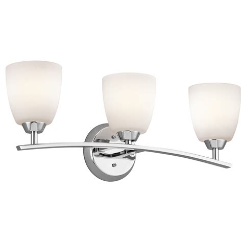 3 light bathroom light fixture kichler lighting 45360ch granby 3 light bath fixture in