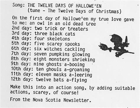 a canadian guider the twelve days of hallowe en