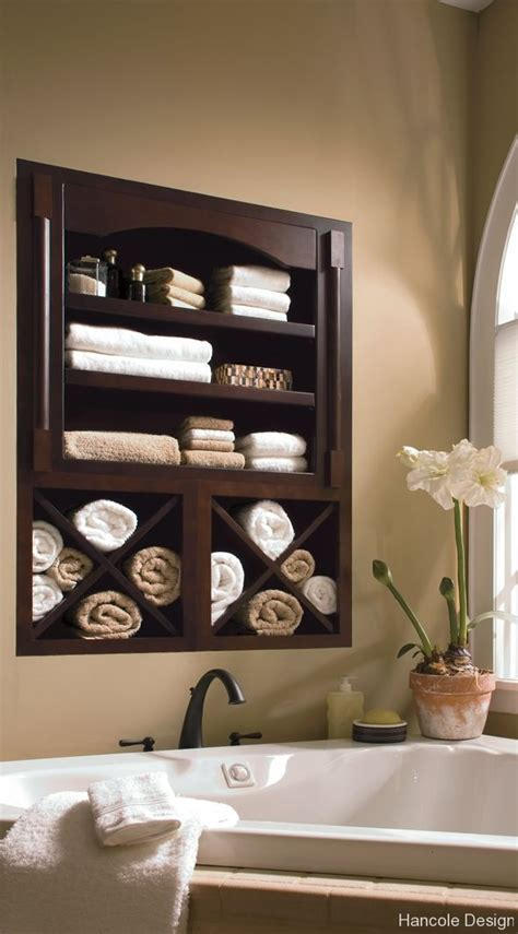 between the studs in wall storage bathroom pinterest towels towel storage and built ins Bathroom Wall Towel Storage