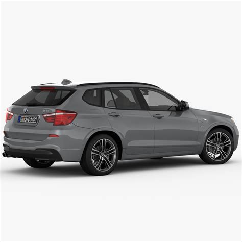 bmw x3 m package bmw x3 f25 m sport package 2015 3d model max cgtrader