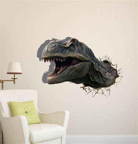 dinosaur home decor free shipping the dinosaur head 3d art wall decals
