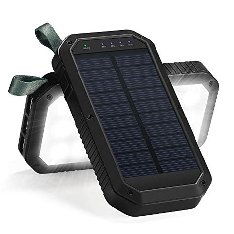 Solar Charger 8000mah 3 Port Usb And 21led Light Solar Solar Light Battery Charger