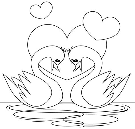 beautiful swan coloring pages to girls