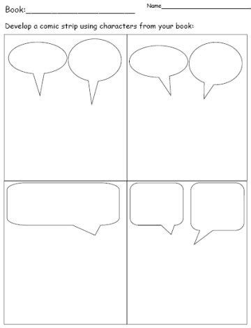comic book presentation template free comic book report form for elementary