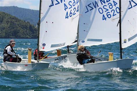 bootje optimist interislander optimist starling regatta at queen