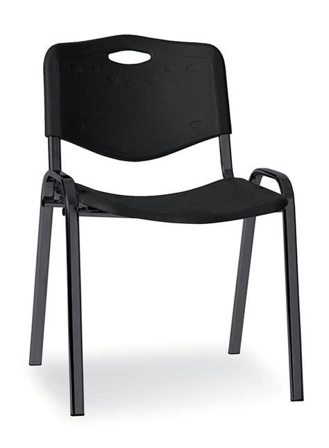 chaise plastique noir chaise visiteur 4 pieds saturn plastique noir lot de 4