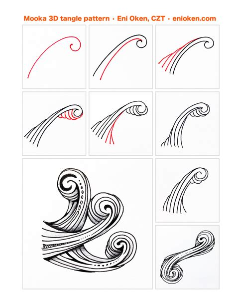 how to draw a tangle doodle part 2 mooka3d tangle pattern enioken